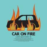 Automobile su fuoco Fotografia Stock Libera da Diritti
