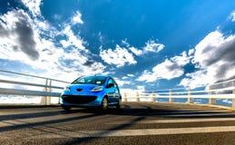 Automobile sul ponte Fotografia Stock Libera da Diritti