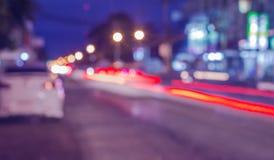 Automobile sulla strada con il fondo del mosso Immagine Stock Libera da Diritti