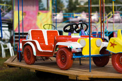 The automobile a swing in park Stock Images