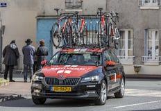 Automobile tecnica di Team Sunweb - 2019 Parigi-piacevole immagini stock