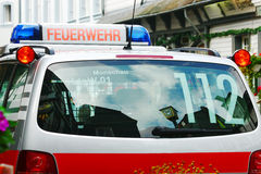Automobile tedesca della fuoco-brigata Immagine Stock Libera da Diritti