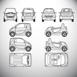 Automobile.Template for graphic design. Automobile.Template. Vector illustration for graphic design Stock Image