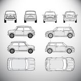 Automobile.Template for graphic design. Automobile.Template. Vector illustration for graphic design Stock Photo
