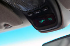 Automobile thermometer - hot!. Car temperature gauge showing 44 degrees celcius...hot day Royalty Free Stock Image