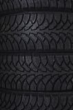 Automobile tire as a background Stock Image