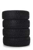 Automobile tire as a background Royalty Free Stock Photos