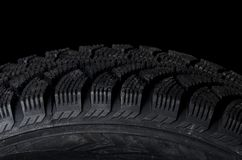 Automobile tire as a background Royalty Free Stock Photo