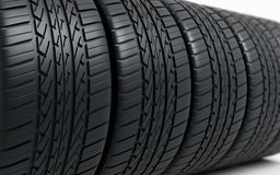 Automobile tires. (depth of field Stock Photo