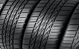 Automobile tires. ( depth of field Stock Photos
