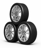 Automobile tires and wheels Royalty Free Stock Photography