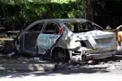 Automobile Torched Fotografia Stock