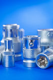 Automobile torx on blue background Stock Photos