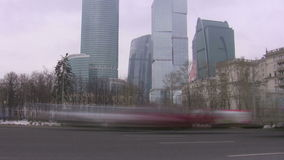 Automobile traffic in the city. Time lapse. Automobile traffic in the modern city. Time lapse stock footage