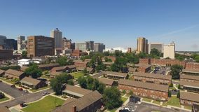 Memphis Tennessee Skyline Downtown City Center Elevation stock video footage