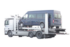 Automobile transporter Stock Images