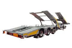Automobile transporter semi-trailer Royalty Free Stock Image