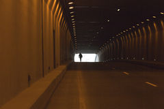 Automobile tunnel Royalty Free Stock Image