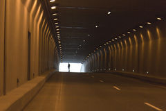 Automobile tunnel Stock Photography