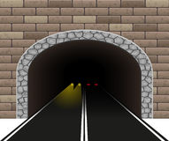 Automobile tunnel  illustration Royalty Free Stock Image