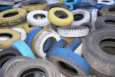 Automobile Tyre Covers Stock Photography