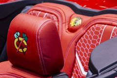 Automobile ufficiale di Chicago Blackhawks fotografia stock libera da diritti