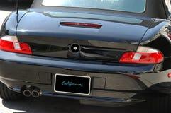 Automobile veloce nera Fotografie Stock Libere da Diritti
