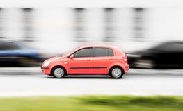 Automobile veloce rossa Fotografia Stock Libera da Diritti