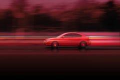 Automobile veloce rossa Mazda Fotografie Stock
