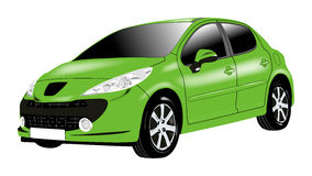 Automobile verde Immagine Stock