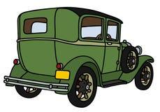 Automobile verde dell'annata Fotografia Stock