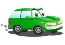 Automobile verde di lusso di SUV Fotografie Stock Libere da Diritti
