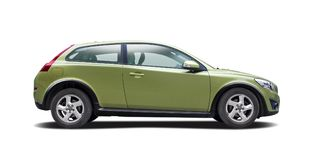 Automobile verde Volvo C30 di Hatcback di sport Fotografie Stock