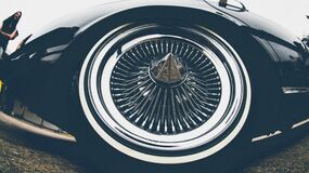 Automobile wheel Stock Image
