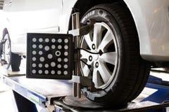 Automobile wheel alignment Stock Image