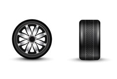 Automobile wheel 3D vector illustration Royalty Free Stock Photography