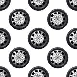 Automobile wheel seamless pattern Stock Images