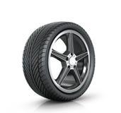 Automobile wheel Stock Image