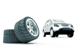 Automobile wheels Royalty Free Stock Photos