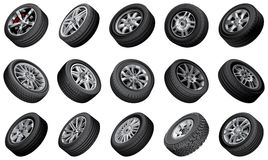 Automobile wheels bundle Stock Image