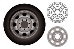 Automobile wheels or tires Stock Image