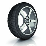 Automobile winter tire. Royalty Free Stock Image