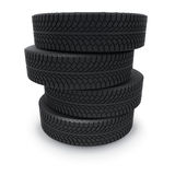 Automobile winter tires Royalty Free Stock Images