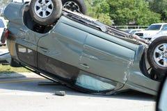 Automobile wreck. Shot of an automobile wreck Royalty Free Stock Photos