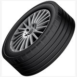Automobiles alloy wheel illustration Royalty Free Stock Photography