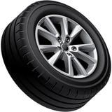 Automobiles alloy wheel isolated Stock Photo