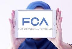 Automobiles de Fiat Chrysler, logo de société de FCA photographie stock libre de droits