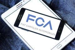 Automobiles de Fiat Chrysler, logo de société de FCA image stock