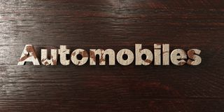 Automobiles - grungy wooden headline on Maple  - 3D rendered royalty free stock image. This image can be used for an online website banner ad or a print Royalty Free Stock Photos