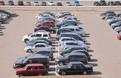 Automobiles on parking Stock Photography